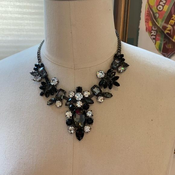 Pretty black and silver necklace